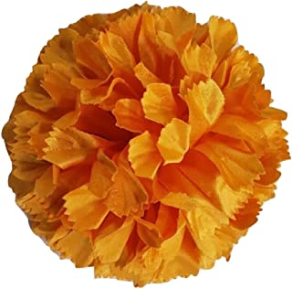 product image for Marigold Silk Fabric Flower Brooch Pin For Women Hand Made in Historic New York Garment District (Oldest Factory in USA)