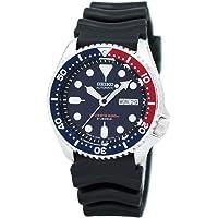 Seiko Automatic Diver Blue Dial Pepsi Bezel Men's Watch (Blue)
