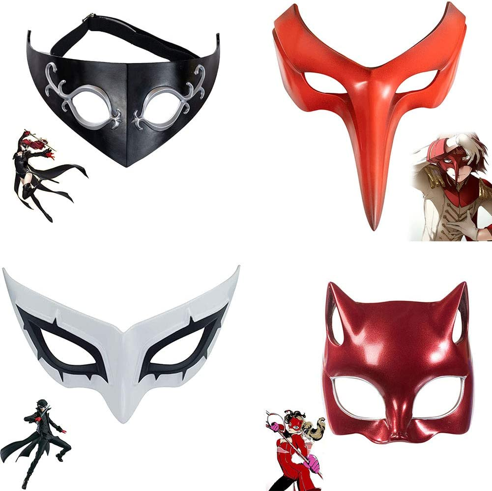 Tiff-K P5 Persona Series Mask 4PCS, Joker/Fox/Queen/Panther Deco
