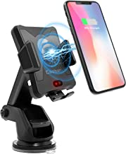 Wireless Car Charger,Qi Motor Automatic Infrared Sensor Qi Wireless Charger Car Mount, One-Touch Phone Holder Compatible Samsung Galaxy S8/S7/S7 Edge Note 8 & 5W for iPhone X/8/8 Plus & Qi-Enable