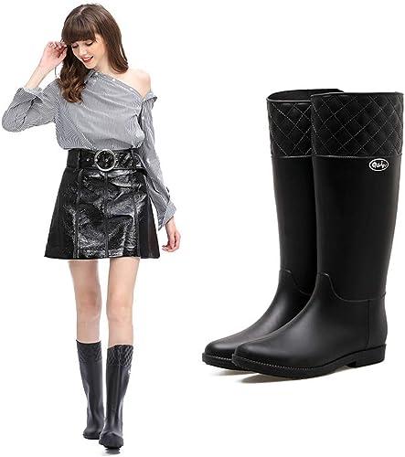 CAI&HONG-Umbrella GHH Bottes de Pluie à la Mode pour Femmes