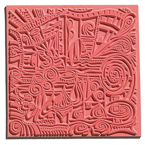 efco Texturmatte, Naturkautschuk, Braun, 9x9x0.3 cm