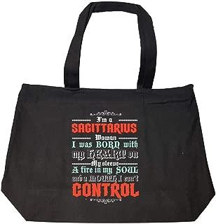 Funny Sagittarius - Born With Fire In Soul Control - Fashion Zip Tote Bag