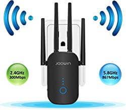 $45 » JOOWIN WiFi Range Extender | WiFi Signal Booster | WiFi Repeater | 2.4 & 5.8GHz Dual Band 1200Mbps 802.11ac Tech | WiFi Amplifier with 4×3dBi High Gain Antenna for Home (Only Support Repeater Mode)