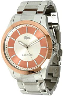Lacoste Sofia Silver and Pink Dial Stainless Steel Ladies Watch 2000704