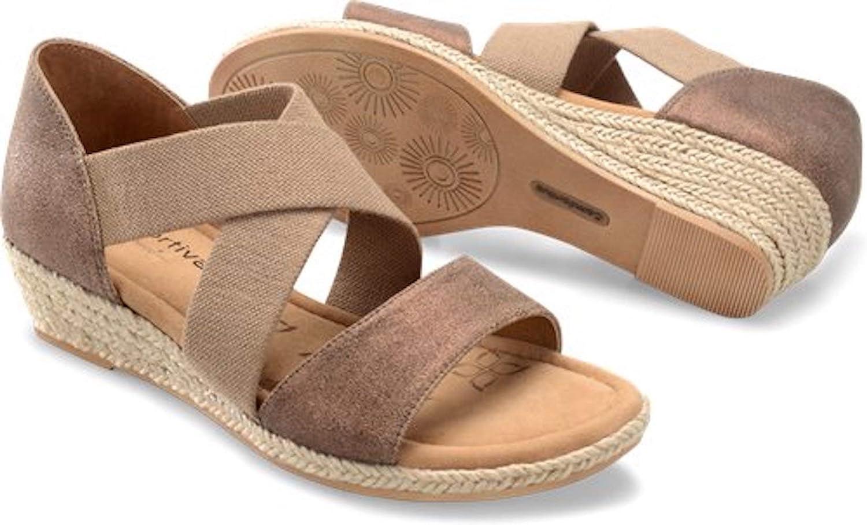 Comfortiva Womens Brye Open Toe Casual Slide Sandals