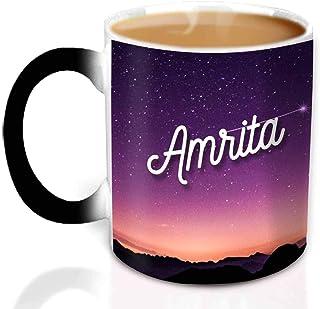 Hot Muggs® You're the Magic… Amrita Magic Mug Personalised Name Ceramic, 315ml, 1 Unit