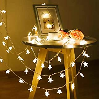 AOOK USB LED Star String Light, 6.6ft/3m 20PCS USB Powered Indoor Outdoor Waterproof Fairy String Lights Party Lighting for Patio Christmas Wedding Bedroom Decoration(Warm White)
