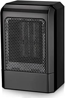 GXDHOME Calefactores Calentador, Velocidad doméstica, Calentador de Interior, de Escritorio, Mini Compartimentos Verticales de bajo Consumo, Calentadores de bajo Consumo. (Color : Negro)