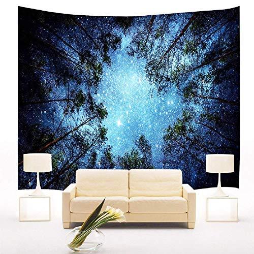 Wimaha Tapisserie Hochwertige Wandbehang wandteppich Wald Sternenhimmel wandtücher Wanddekor(200 * 150cm)
