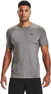 Under Armour UA HG Armour Fitted LS, T-shirt à manches longues, T-shirt de sport pour homme Homme, Black / White, 3XL