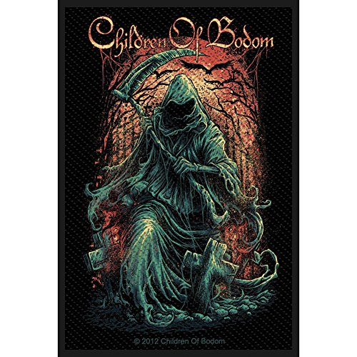 Children of Bodom Reaper Patch Extreme Metal Band Music Jacket Sew On Applique
