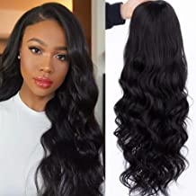 K'ryssma 13x4 Black Lace Front Wig Body Wave Long Wavy Synthetic Wigs 150% Density Natural Hairline Hair Replacement Hair ...