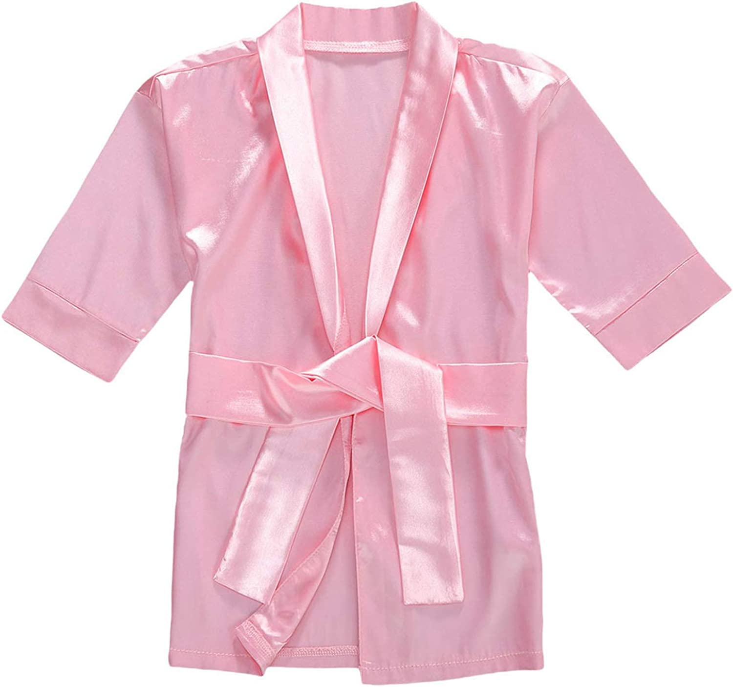 Infant Toddler Baby Girl Flannel Soft Bathrobes Hoodie Kimono Robe Clothes with Belt