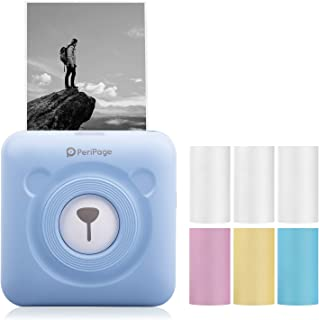 CNMF Mini Photo Printer Pocket Wireless Printer for iPhone, Handheld Printer, Wireless Thermal Label Receipt Paper Notes P...
