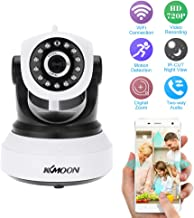 KKmoon Wireless WiFi 720P HD H.264 P2P 1MP AP IP Network Home IR Security Camera P/T Webcam