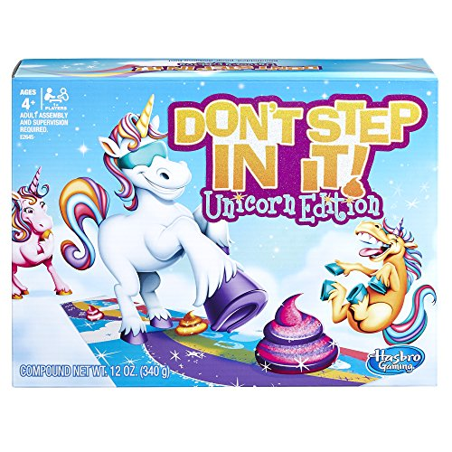 Hasbro Gaming Don't Step In It Game, Unicorn Edition (Amazon Exclusive)