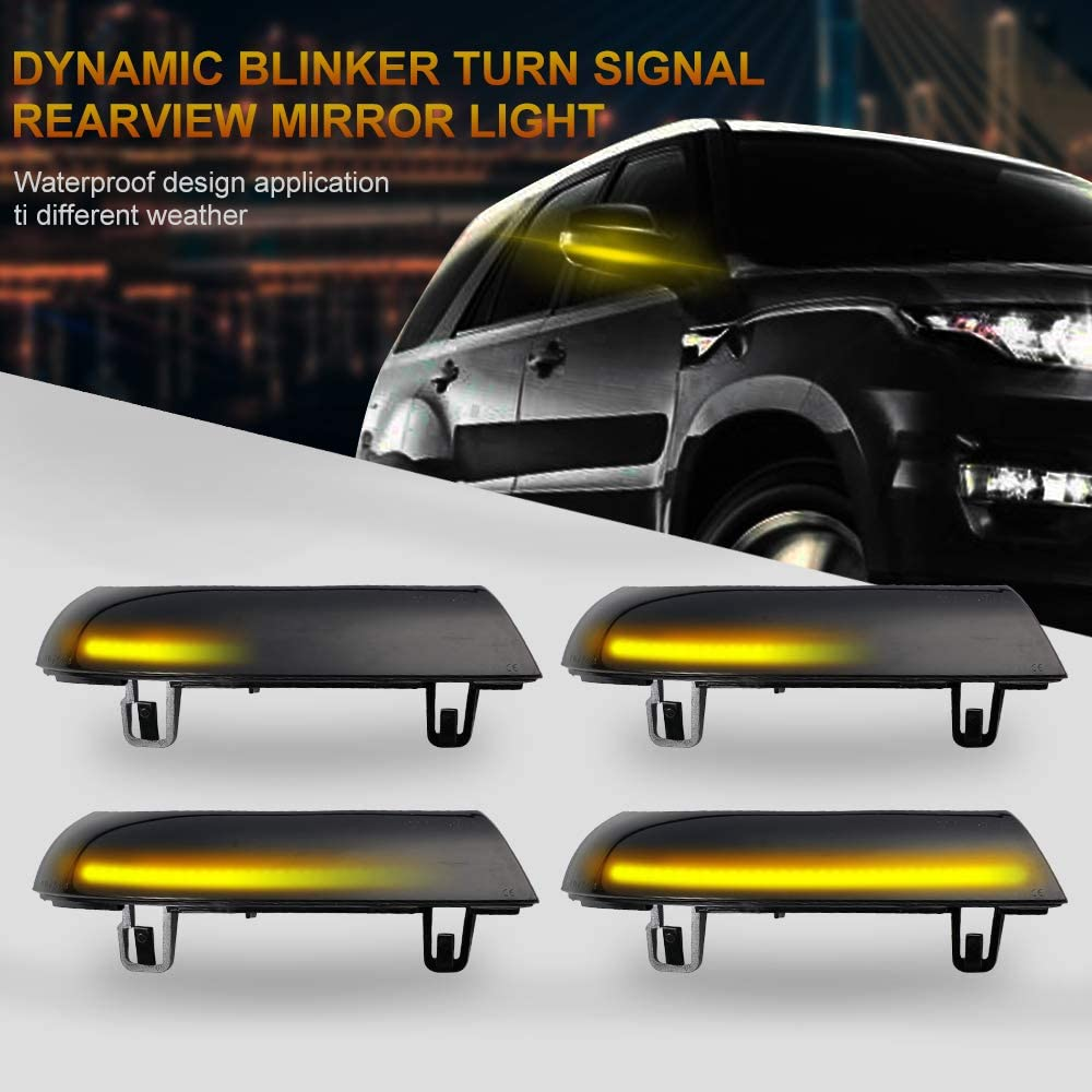 2pcs Dynamic New York Mall Turn Dallas Mall Signal Light LED Ind Rearview Side Mirror Wing