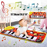YUHT Piano Musical Mat, Multi-Function Piano Mat Piano Musical Mat Music Piano Keyboard Blanket Safety Learn Singing Funny Toy for Toddlers Touch Play Game Dance Music Carpet Mat Mat Dance Mat