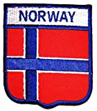 Norway Flag Embroidered Sew Iron on Patch Country Flag Patches Stickers DIY Patch on Clothes Jacket Fabric Costume