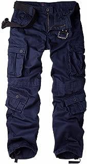 AUSZOSLT Men's Multi Pocket Loose Casual Work Pants Cargo Pants