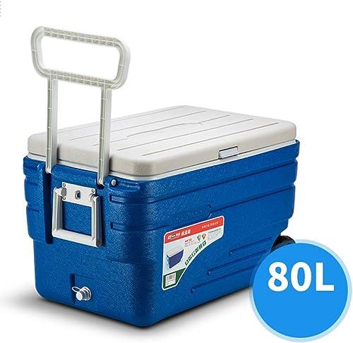 LJ Réfrigérateur-glacière pour voiture Glacière rigide sur roues avec glissière sans gêne pour congélation profonde - Boisson à la bière de perforhommece pour le camping, les barbecue
