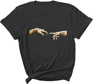 بلوزة نسائية برقبة مستديرة من SportsXX قمصان فردية كبيرة الحجم