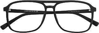 LUMDERIO Blue Light Blocking Glasses Square Eyeglasses Frame Anti Blue Ray Computer Game Glasses Unisex Women and Men