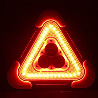 ningxiao586 LED blinkendes Warndreieck, Solar + USB, das Warndreieck auflädt, das PFEILER Arbeits Straßen Notlampe für gelben Selbstwinkel blinkt
