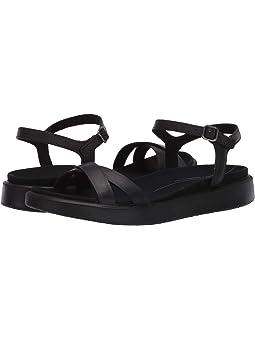 ECCO Womens Soft 5 Cross Strap Flat Sandal