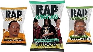 Rap Snacks potato chips variety pack - MIGOS, Romeo Miller, Fetty Wap - 2.75 oz bags (Pack of 3)