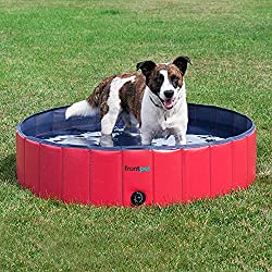 13151e1168 Check Today s Price on this Dog Pool. It s easy to drain and portable to  take with you to keep your dog cool.