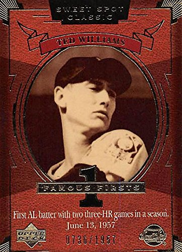 Ted Williams baseball card (Boston Red Sox) 2004 Upper Deck Sweet Spot Classic #154