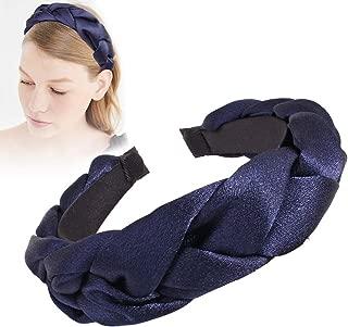 Headbands Women Hair Head Bands - Turban Twist Hair bands for Women's hair Wide Thick Hairbands For Girls Washing Face Makeup (Dark Blue)