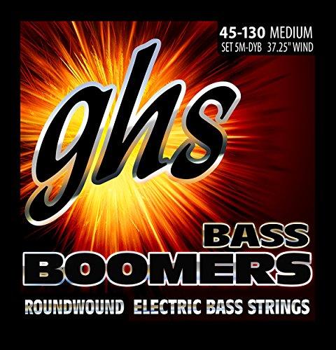 ghs 5M-DYB - Juego de cuerdas para bajo eléctrico, 045-130