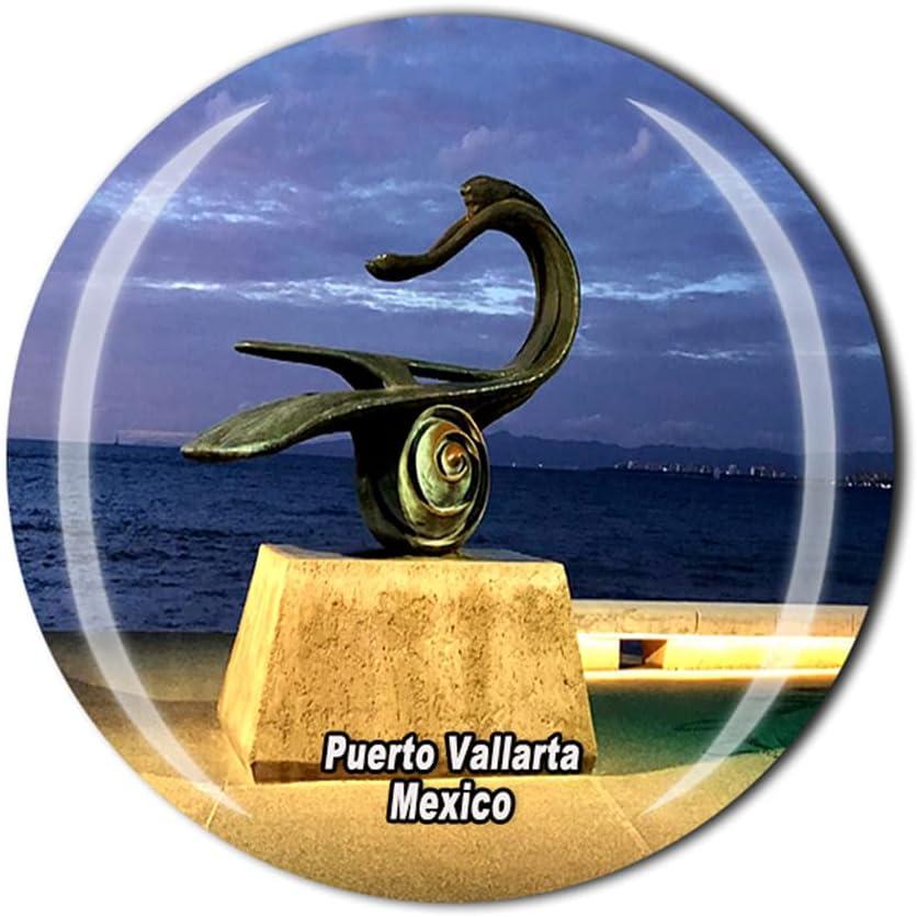 Puerto Vallarta Mexico 3D Refrigerator Magnet Crystal Style Souvenir Fridge Magnet Home Kitchen Decor Gift Collection