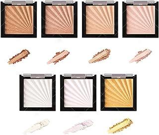 Glitter Radiant Highlighting Skin Powder, Organic Highlighting Powder voor de huid Compact, 7-kleuren Diamond High-Gloss T...