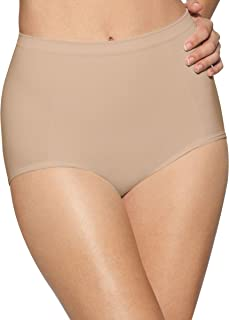 womens Seamless Brief With Tummy Panel Ultra Control 2-Pack(X245)-2 Nude-XL