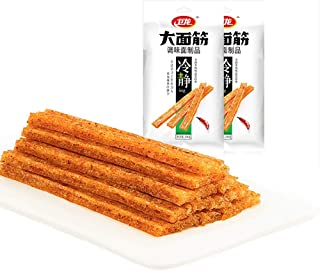 wei Long Spicy strips Gluten New Package (2 pack) Healthy Fats Chinese Delicious, Paleo Original Weilong Gluten Chewy Chil...