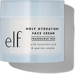e.l.f. , Holy Hydration! Face Cream Fragrance Free, Smooth, Non-Greasy, Lightweight, Nourishing, Moisturizes, Softens, Abs...