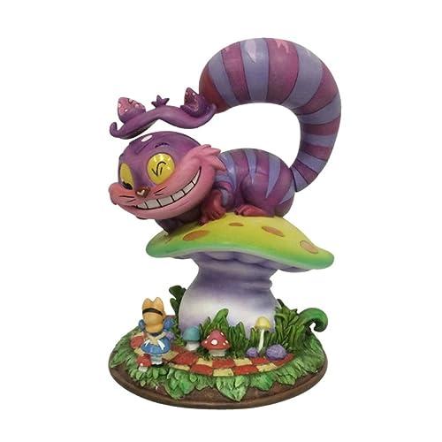 Enesco Miss Mindy Figurita El Gato Cheshire, Resina,, 14x14x16 cm