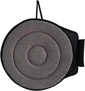 Swivel Seat Cushion for Car for Elderly,Ultra-Thin Car Seat Swivel Cushion, Rotation 360° Cushion Memory Sponge Seat Cushion Soft Chair Pad 4040 (Gray, Round)