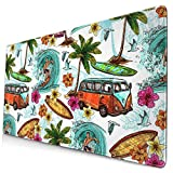 AOOEDM Alfombrilla de ratón Hawaiian Surf Extended Large Mouse Pad 15.8 X 29.5 in Funny Design Computer Gaming Mouse Mat Desk Non-Slip Rubber Base Mousepad for Office/Home