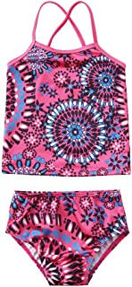 ZLolia Toddlers Baby Girls Bohemia Printed Bikini 2-Piece Halter Strap Swimsuit Summer Casual Bathing Suits
