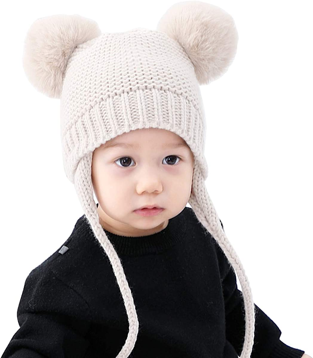 ROSEBEAR Max 79% OFF Baby Winter Hat Cap Stretchy Warm Knitted Beani Max 42% OFF Chunky