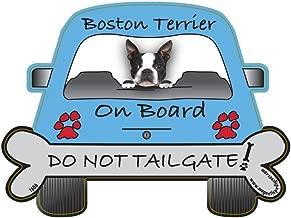 Boston Terrier Tailgate Custom Shaped Magnet