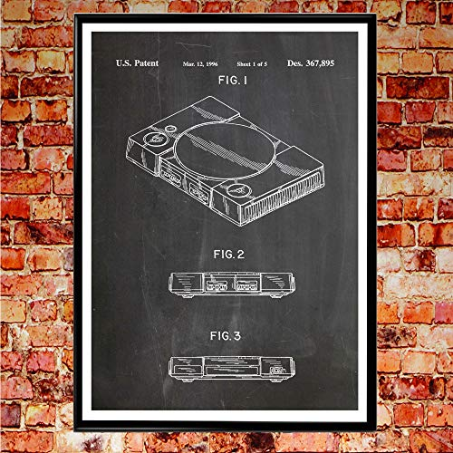 Rac76yd Playstation Poster Playstation Stampa Playstation Video Gioco Arte Gaming Decor PS Wall Art PS Brevetto Stampa Wall Art Patent Prints Regalo