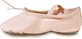 YYXR 芭蕾平底鞋帆布舞蹈体操瑜伽鞋平底鞋适合女孩(女士/大童/小童/幼儿) Pale Apricot 8.5 M US