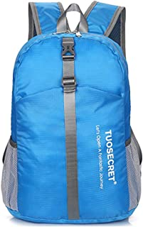Foldable Backpack Waterproof Handy Small Daypack for Women and Men School Outdoor Sports Gym Bag(Blue)