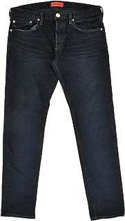 (レッドカード)redcard デニムパンツ メンズ スリムテーパードパンツ ブルーブラックユーズド Rhythmリズム 正規取扱店